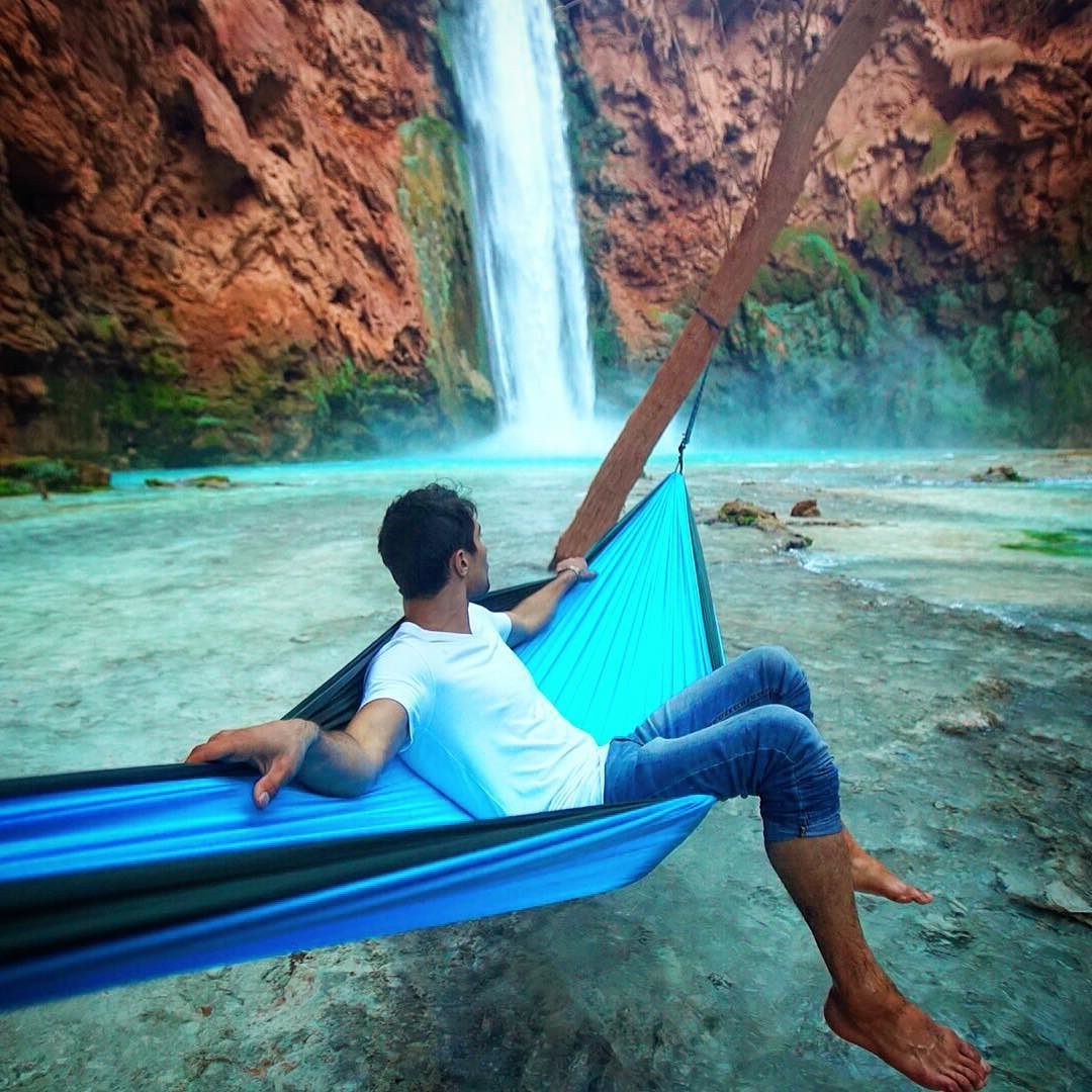 """""""Not all dreamers are winners but all winners are dreamers. Your dream is the key to your future."""" - Mark Gorman ----- Photo : @kylormelton - The man the myth! On location at Havasu Falls for a video shoot! Coming soon. ----- #FindYouphoria by @youphoriaoutdoors"""