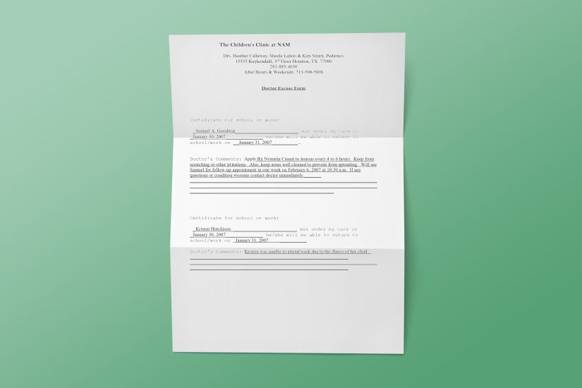 44 free fake doctors note templates to download