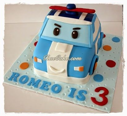 Poli Robocar Cake For Romeo Kue Ulang Tahun Birthday Cake Cupcake