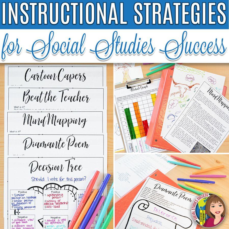 Instructional Strategies For Social Studies Success Social Studies Teaching Strategies Teaching Strategies Instructional Strategies
