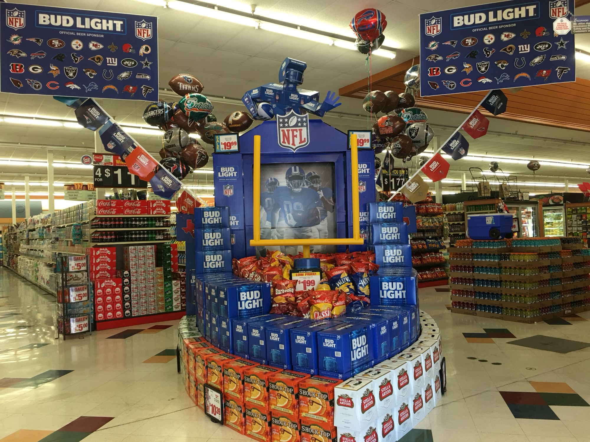 Coors Super Bowl Displays