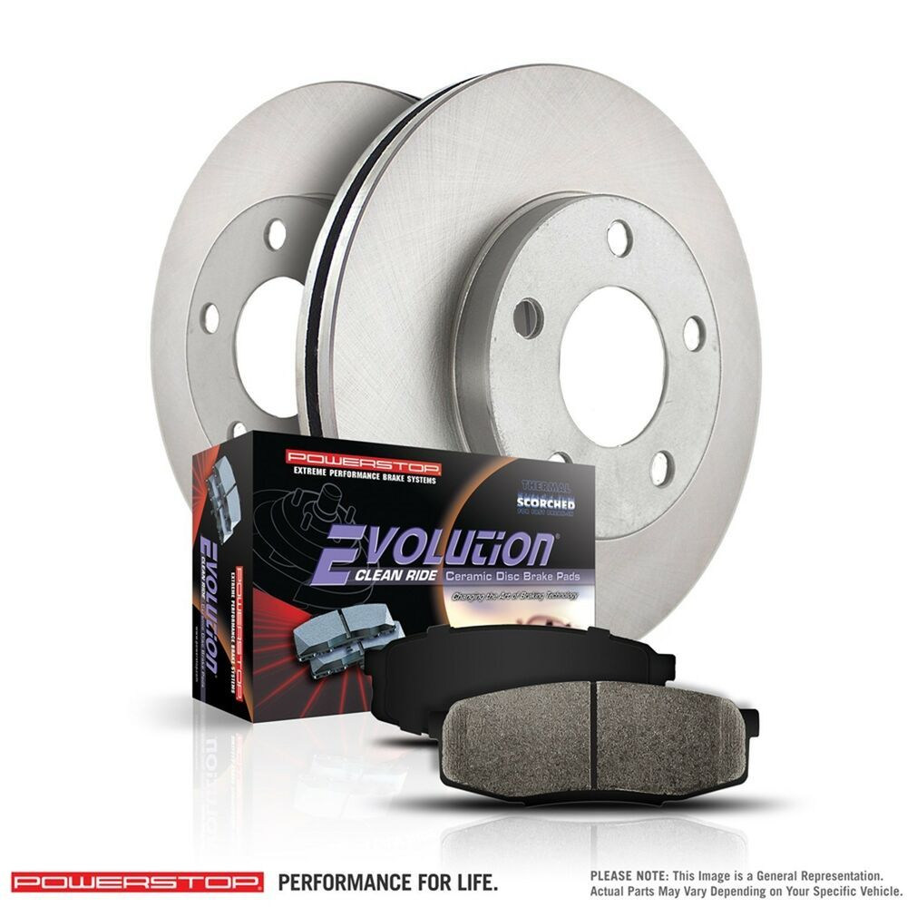 Power Stop Rear Disc Rotors Brake Pads 07 16 Lancer Jeep Patriot