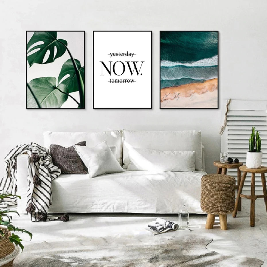 Abstract Seascape Viewed From Above Inspirational Quotation Wall Art Living Room Modern Modern Room Inspirational Quotes Wall Art #wall #art #sayings #for #living #room