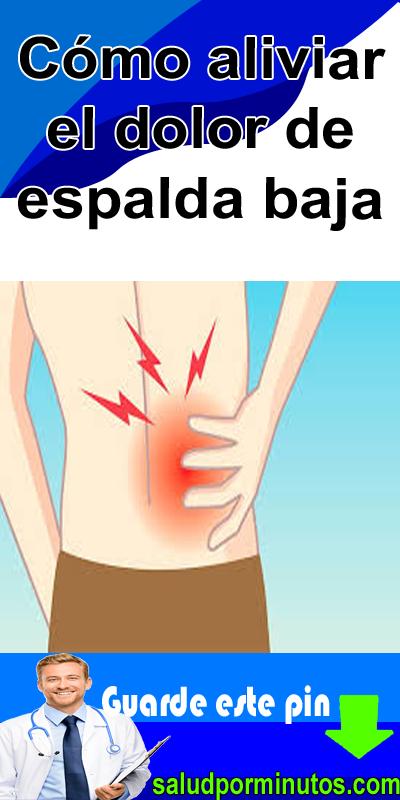 Remedios para el dolor de espalda baja