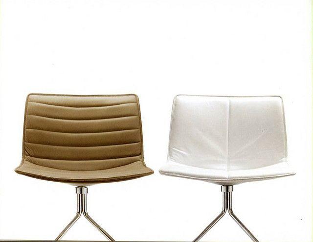 ARPER - catifa armless chair leather padded seatbackjpg Chaises