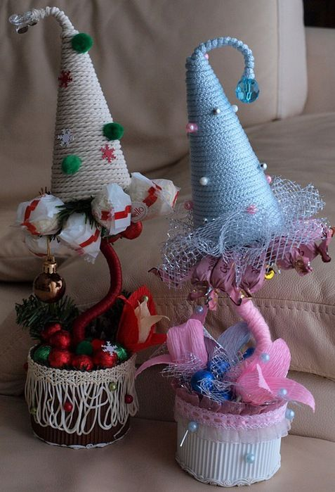 diy christmas topiary trees unique gift idea colored craft paper