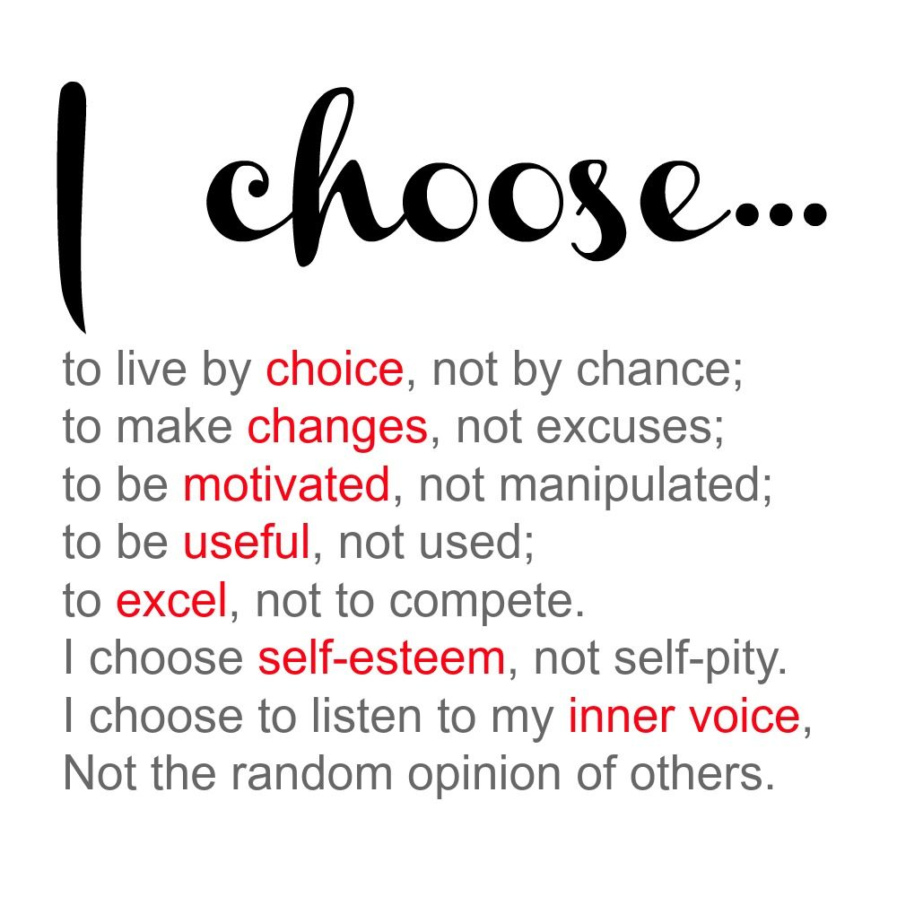 """""""I choose... to live by choice, not by chance. to be ..."""