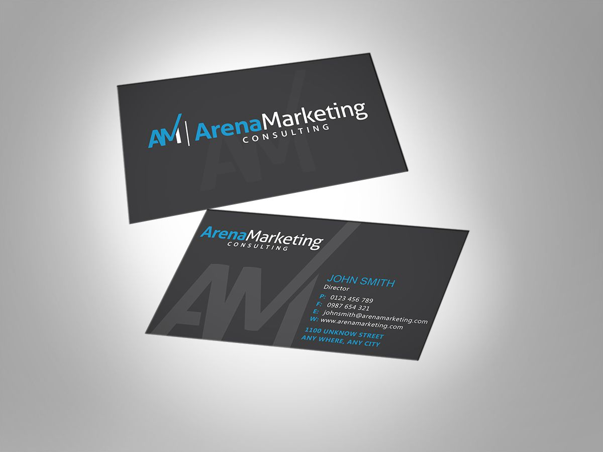 Business Card Design by MT for Arena Marketing Consulting business ...