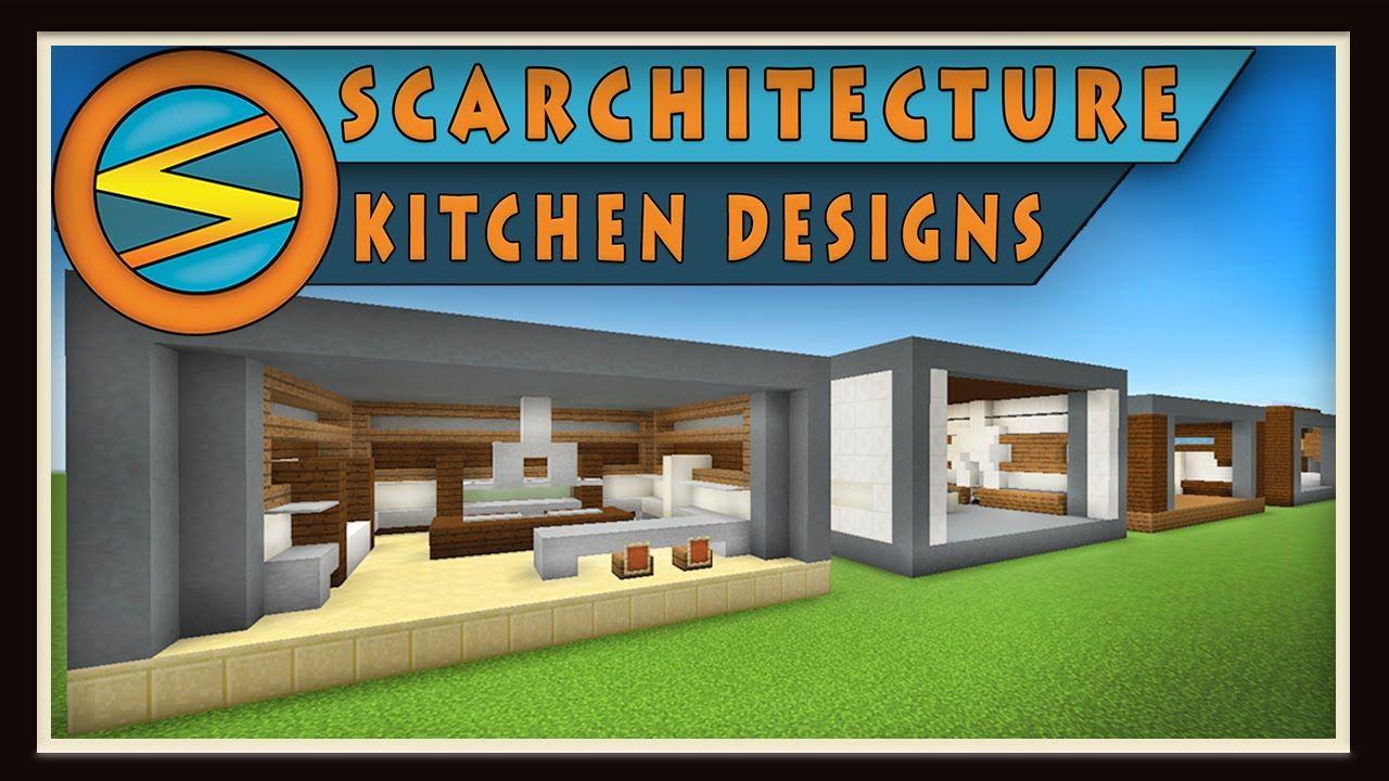 Minecraft Five Modern Kitchen Designs (Scarchitecture Ep
