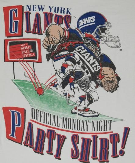 New York Giants Official ABC Monday Night Football Party Shirt. Almost makes me wish I was a Giants fan....almost.