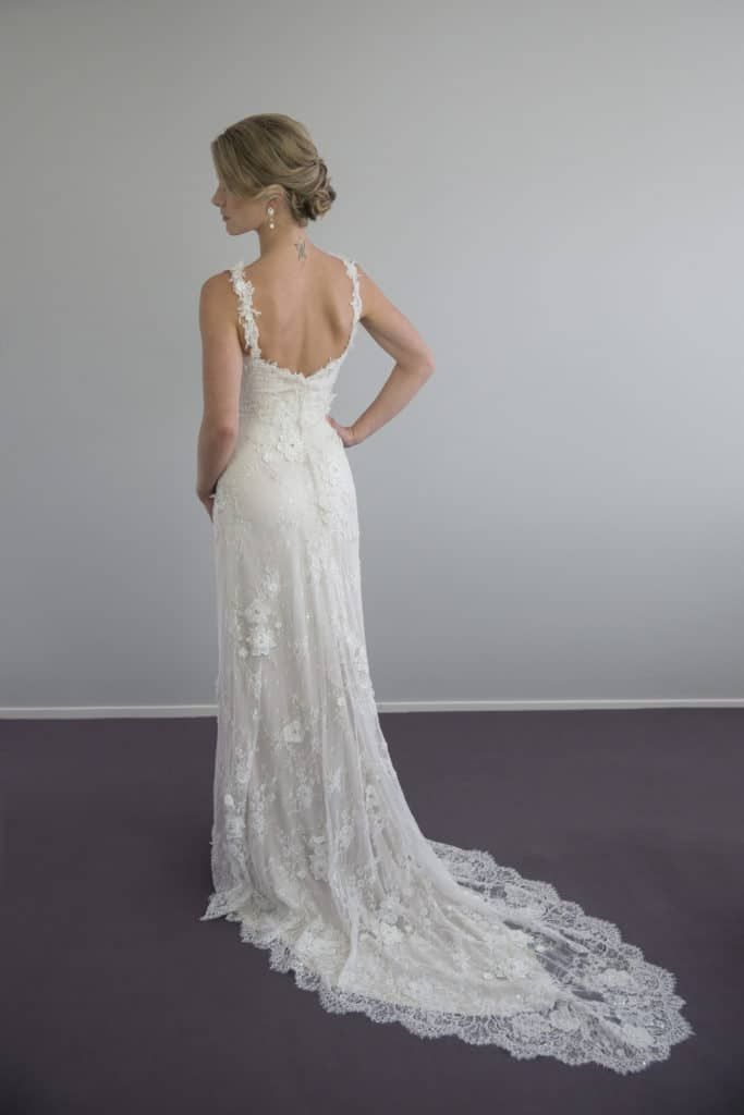 Vinka Design Vintage Beaded Lace Wedding Gown Hand Made Bridal Gowns And Wedding Dresses In Auckland New Zealand Wedding Gowns Lace Gowns Bridal Gowns