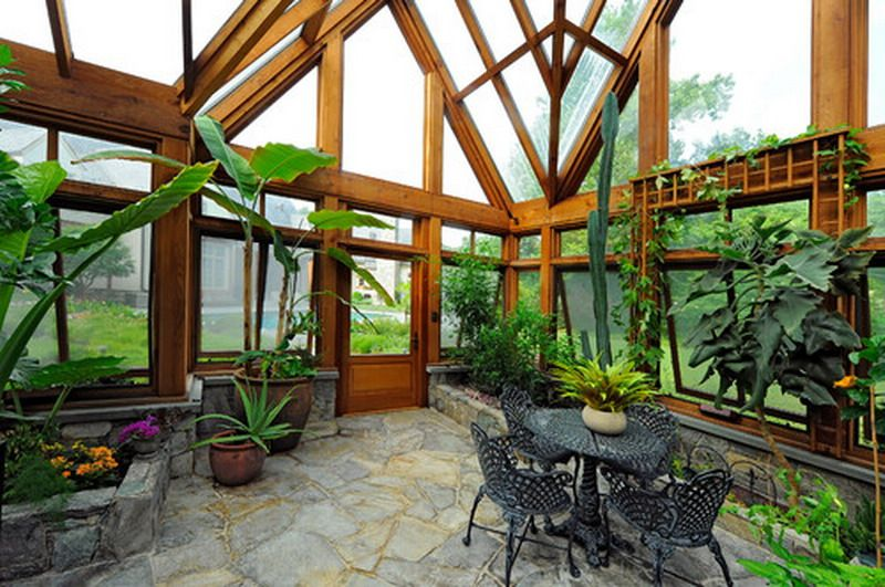Nice Traditional Greenhouse Patio Design Inspired