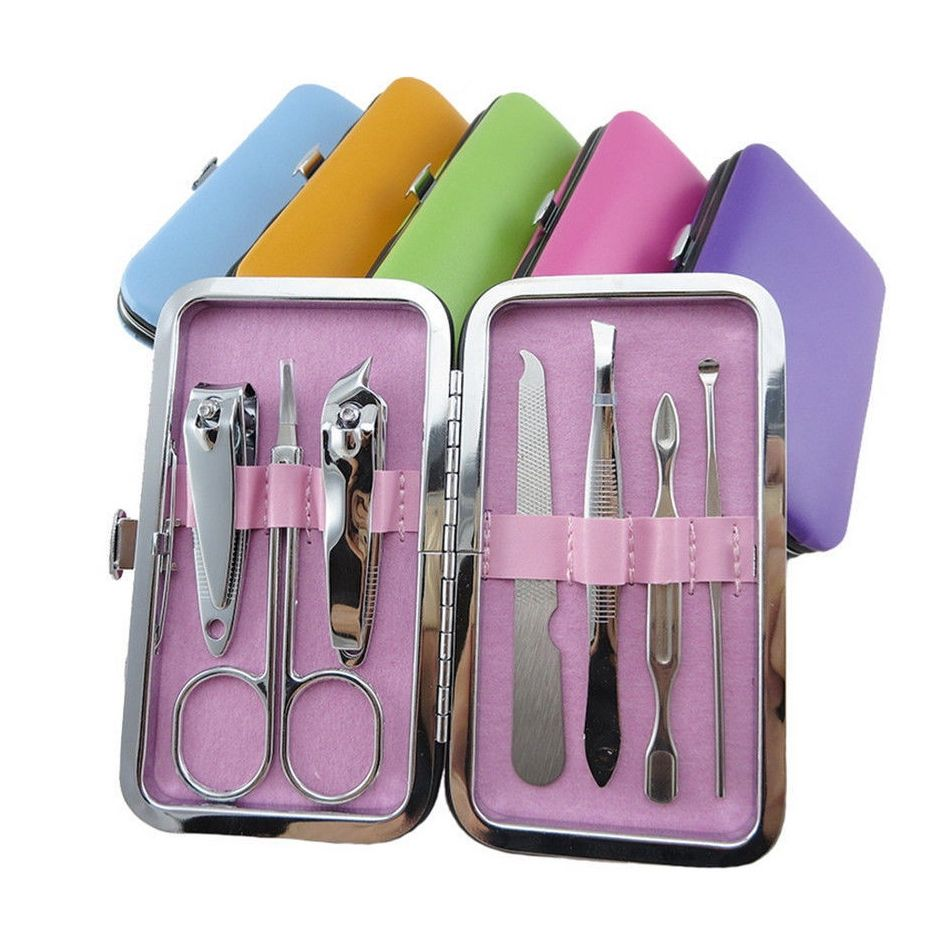 Hot Sale 7x Manicure Set Nail Care Clippers Scissors Travel Grooming ...