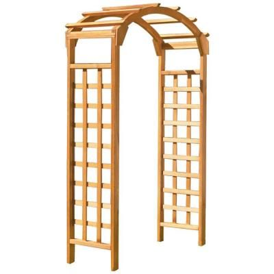 Natural Arch 84 in. x 48 in. Outside Wooden Garden