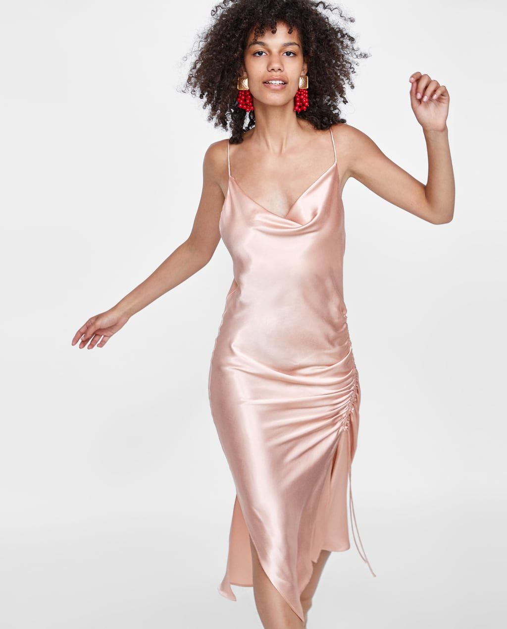 78b840e6 Image 2 of DRAPED CAMISOLE DRESS from Zara | SUMMA SUMMA THYME in ...