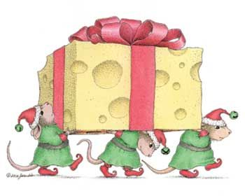 "Merry Christmas from the House-Mouse Gang featured on The Daily Squeek® for December 25th, 2014. Click on the image to see it on a bunch of really ""Mice"" products."