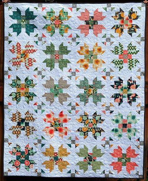 Florabelle Bloom Quilt Free Tutorial Patchwork Quilting