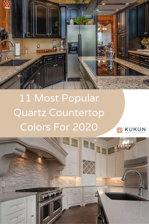 11 Most Popular And Stunning Quartz Countertop Colors In 2020 Countertop Colours Quartz Countertops Colors Quartz Kitchen Countertops Colors