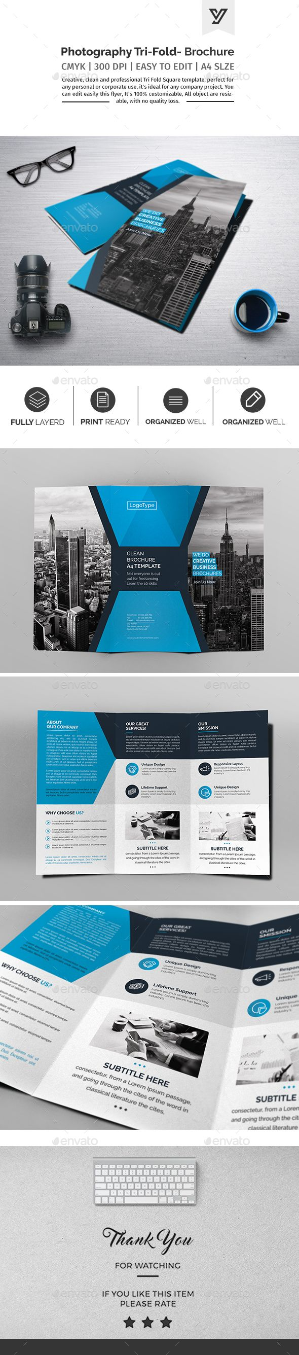 Corporate Tri-fold Brochure Template PSD. Download here: https ...