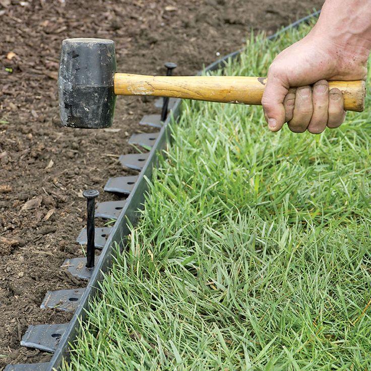 Easyflex™ No Dig Garden Edging 50 Metal Landscaping 400 x 300