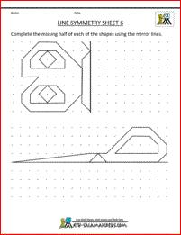 symmetry worksheets line symmetry 6   Symmetrie   Pinterest   Mathe ...