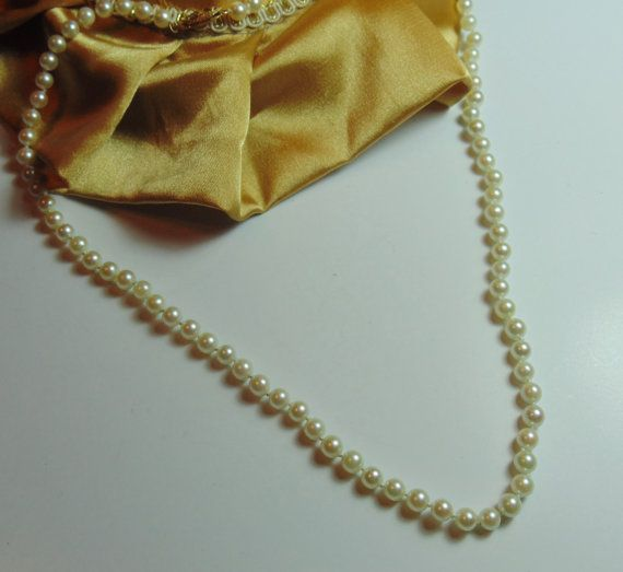 Gorgeous 18 Pearl Necklace with 14k Yellow by BuccaneerTrading, $75.00