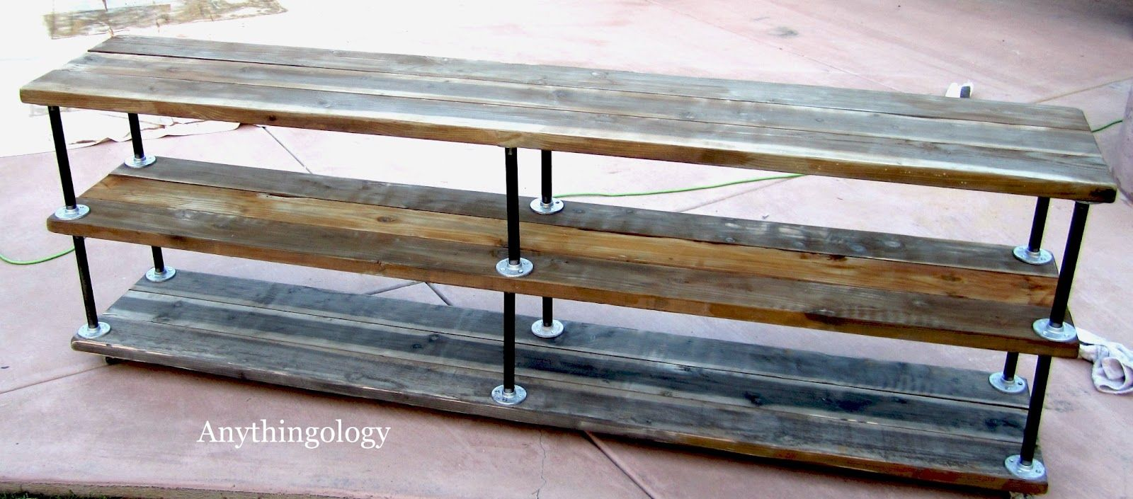 Diy industrial shelves little home diy projects for Industrial diy projects