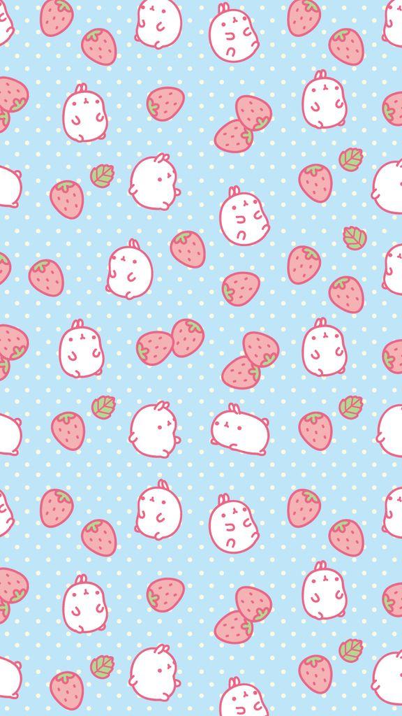 Cute Hamster And Strawberry Wallpaper We Heart It Cute Kawaii Background Cute Pastel Wallpaper Bunny Wallpaper Beautiful kawaii strawberry wallpaper