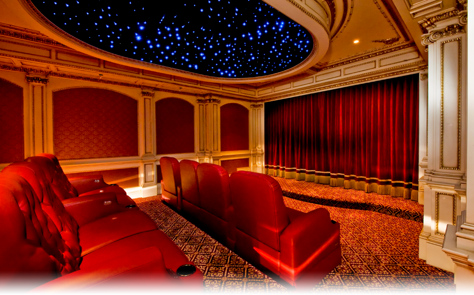 Luxury home theaters will keep friends and family on the