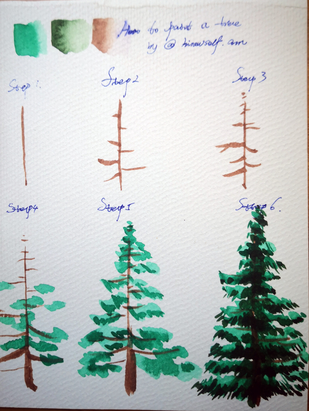 How to Paint a tree in watercolor