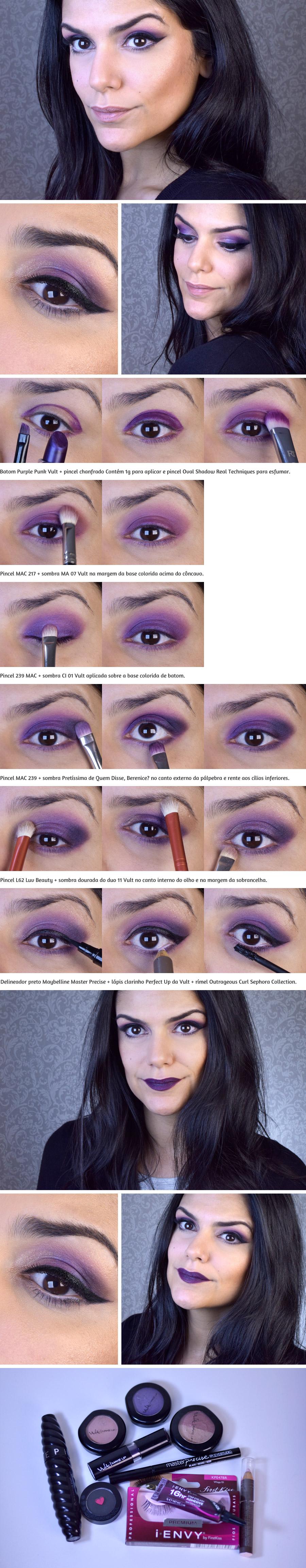 Maquiagem roxa / Purple makeup