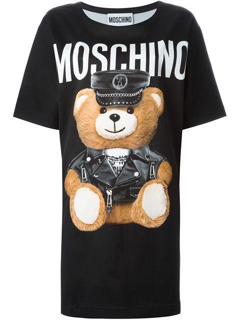 bdff6a762221 MOSCHINO Teddy Bear Print T-Shirt Dress. #moschino #cloth #dress ...