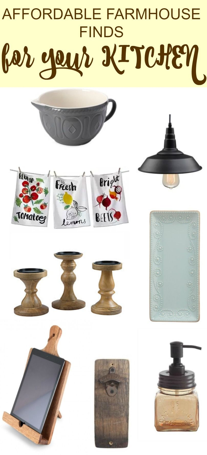 We have found some amazing affordable farmhouse kitchen ...