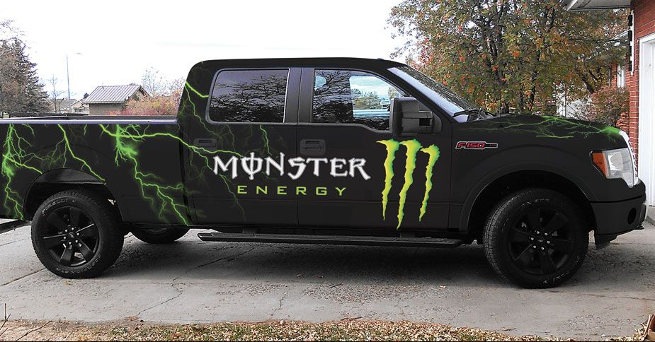 Monster Energy full wrap on 2010 Ford F-150   All Wrapped Up ... on monster energy car wrap, monster energy auto wrap, monster energy boat wrap, monster energy 4 wheeler wrap, monster energy trophy truck wrap, monster energy bus wrap,