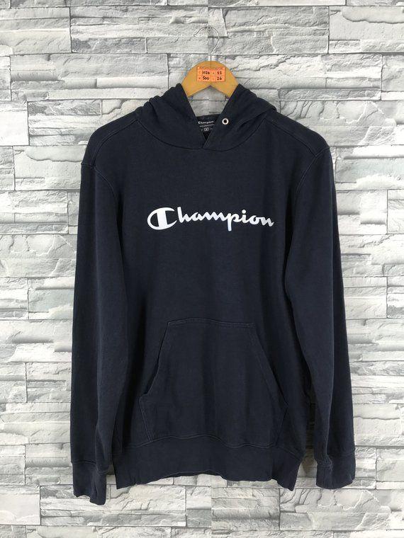 f755547cb88b Vintage CHAMPION Hoodie Sweatshirt Medium Champion Usa Champion Spell Out  Sportswear Hooded Sweater