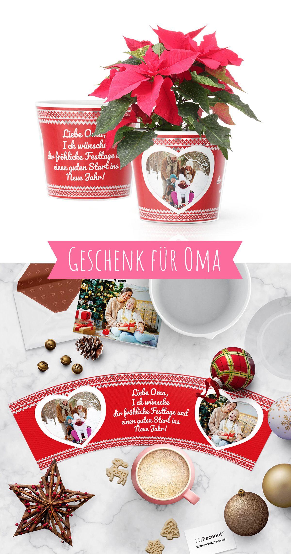 Weihnachtsgrüße Enkelkind.Weihnachtsgeschenk Für Oma Weihnachtsgrüße Auf Dem Pullover Topf