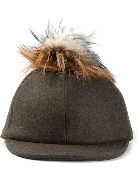 395,00 € Shop Fendi fox fur pompom cap in Liska from the world's best independent boutiques at farfetch.com. Over 1000 designers from 60 boutiques in one website.