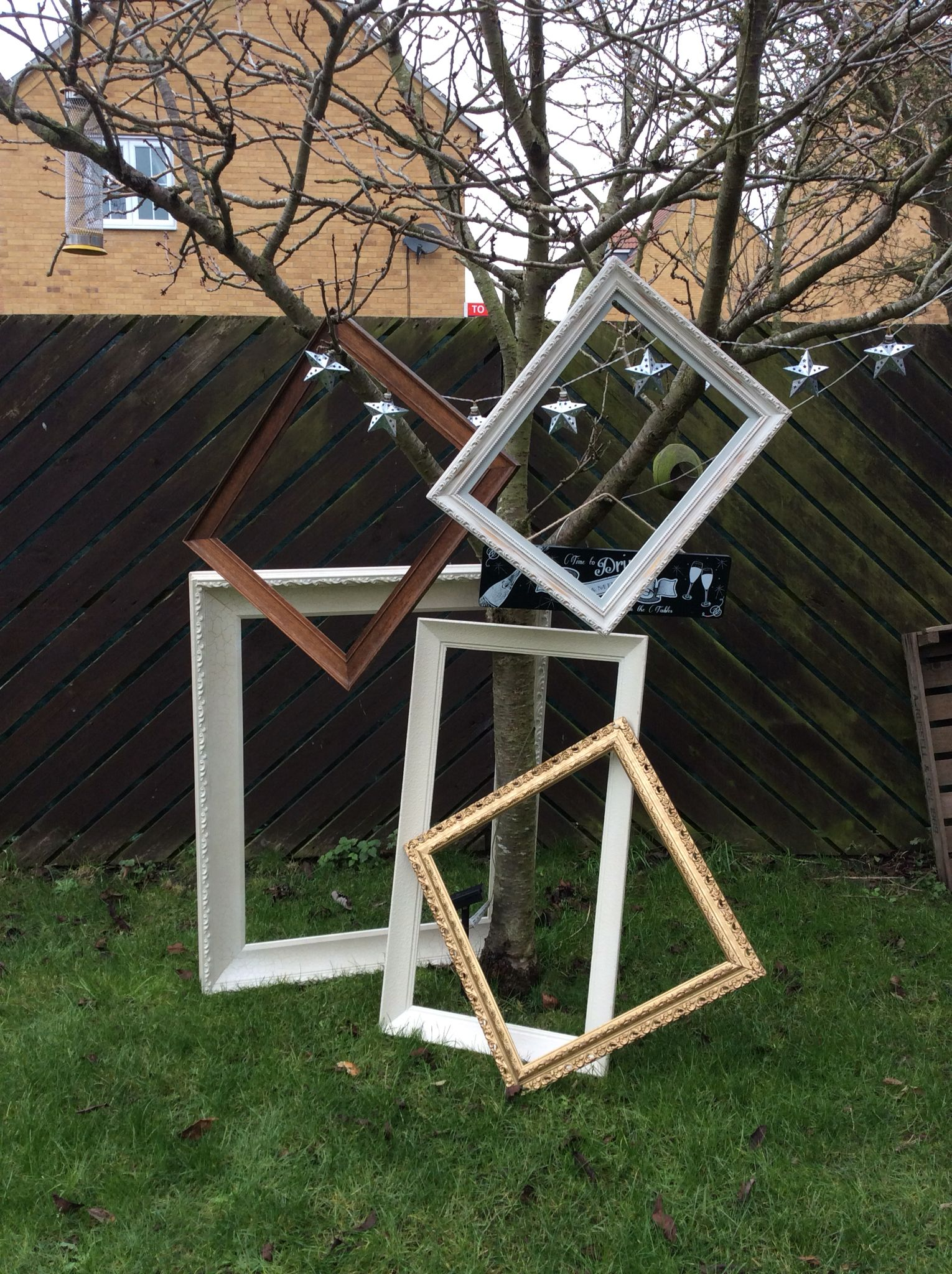 Frames Hire Photo Props Rustic Vintage Wedding Cambridgeshirelarge White
