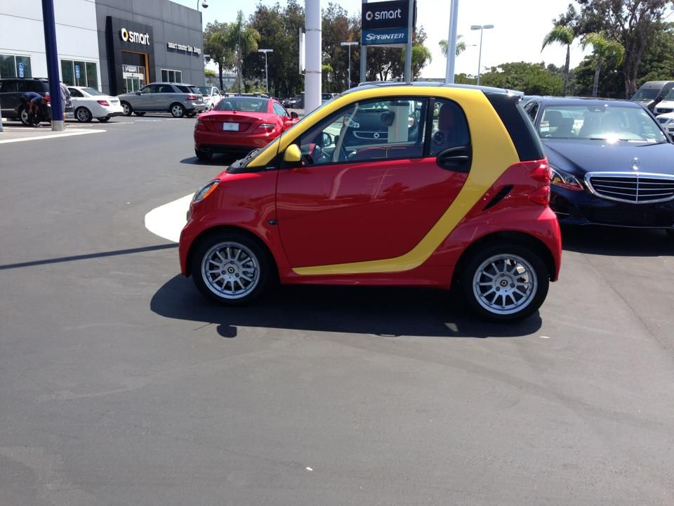 Red N Yellow Smart Car