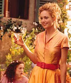 Gorgeous Orange Organza Dress Worn By Diane Lane In Under The Tuscan Sun