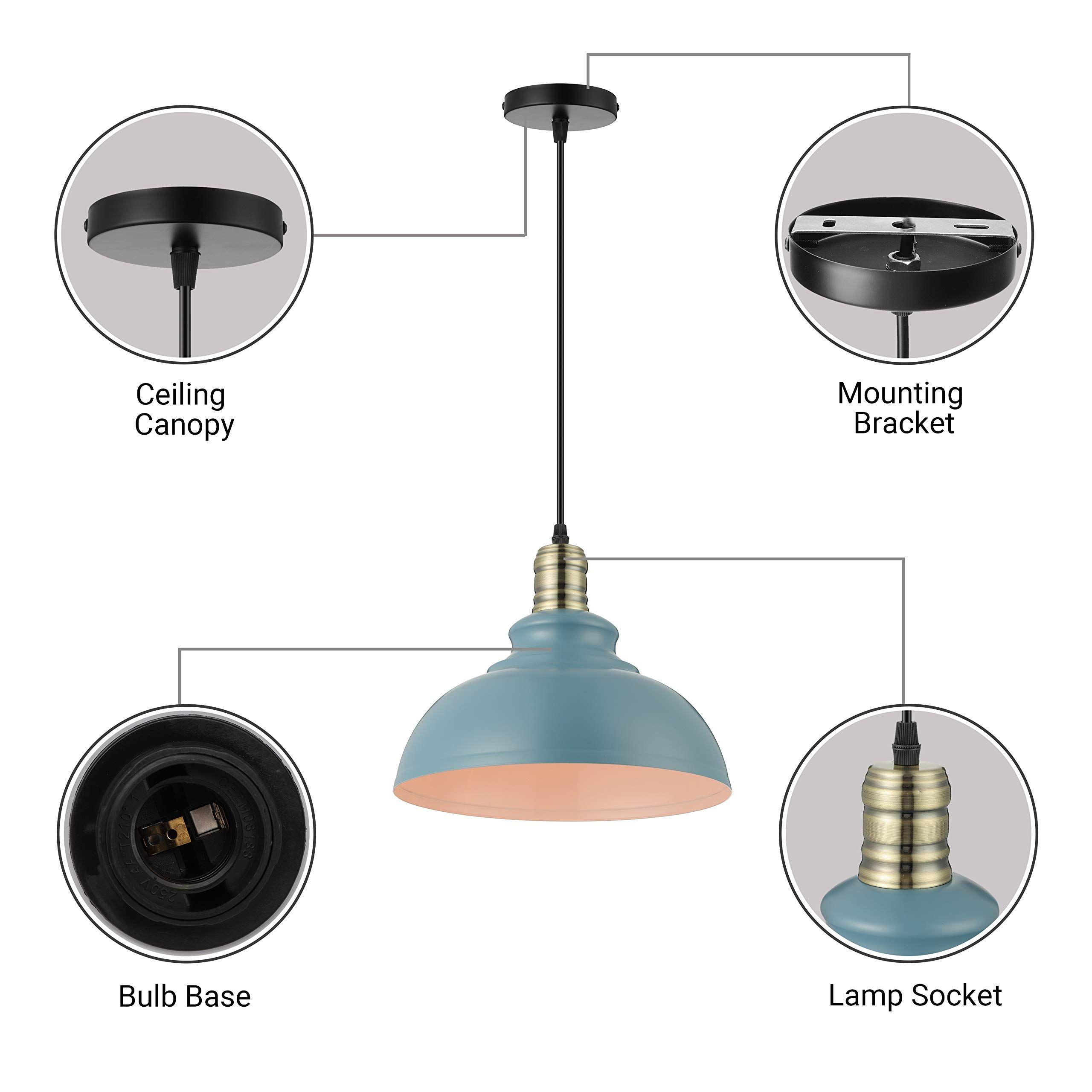 Kwoking Lighting Industrial Barn Pendant Light Chandelier Hanging Lamp 11 4 Wide Shade Metal Ceiling Fixture Fo In 2020 Metal Ceiling Lamp Pendant Lights Chandeliers
