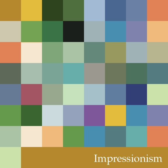 b3e3295681640 Impressionism Color Palette   Design in 2019   Color schemes colour ...