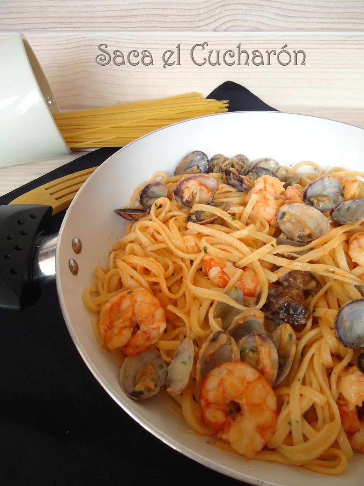 TALLARINES A LA MARINERA | cocina | Pinterest | Recetas, Receta de ...