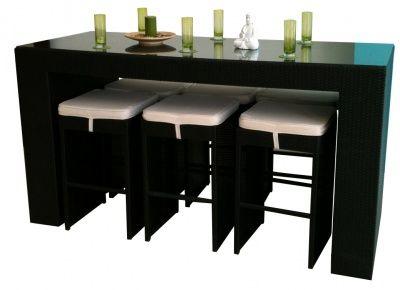 Modern Outdoor Bar Set (Table   6 Stools)
