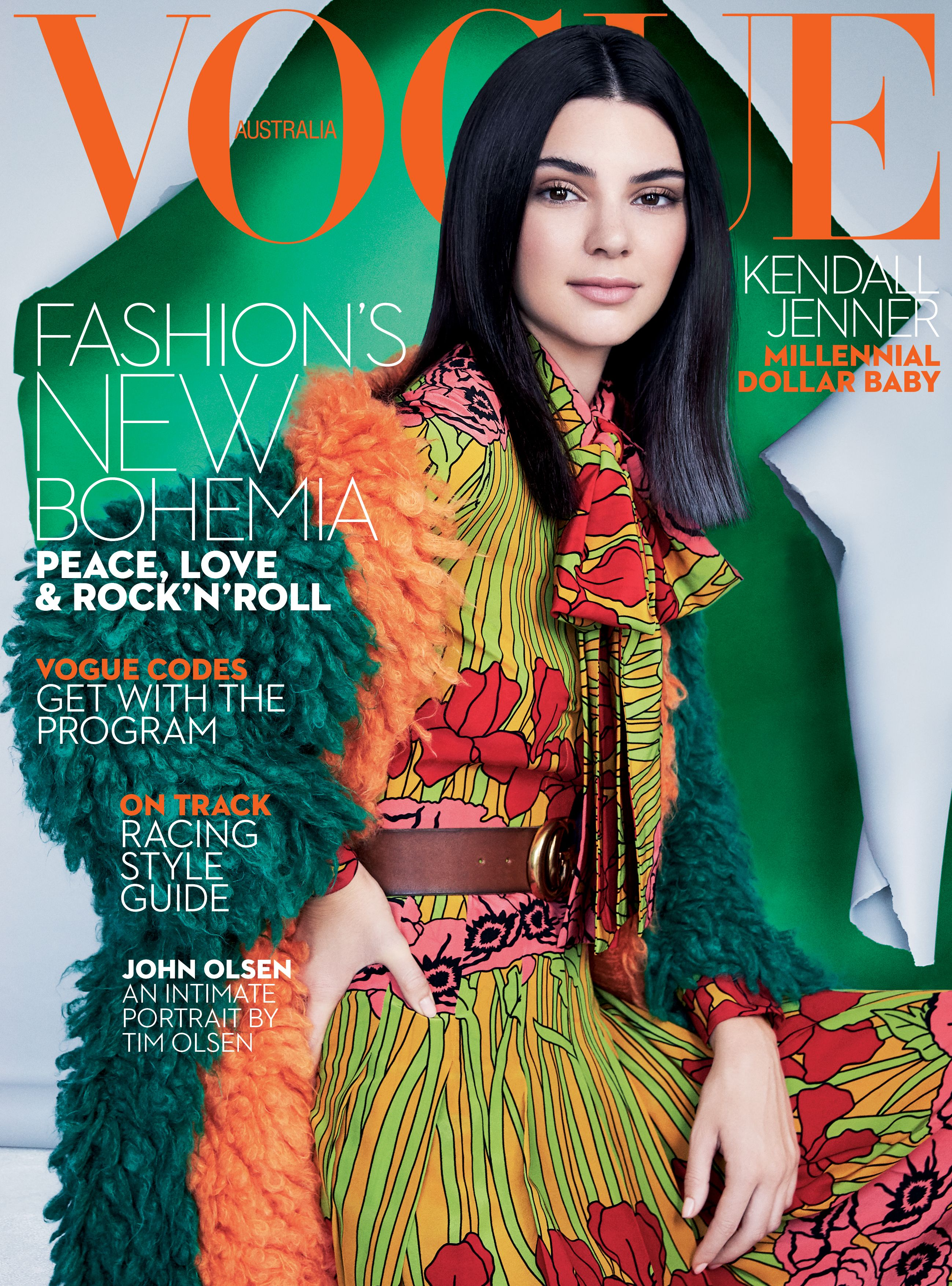Kendall Jenner for Vogue Australia October 2016. More