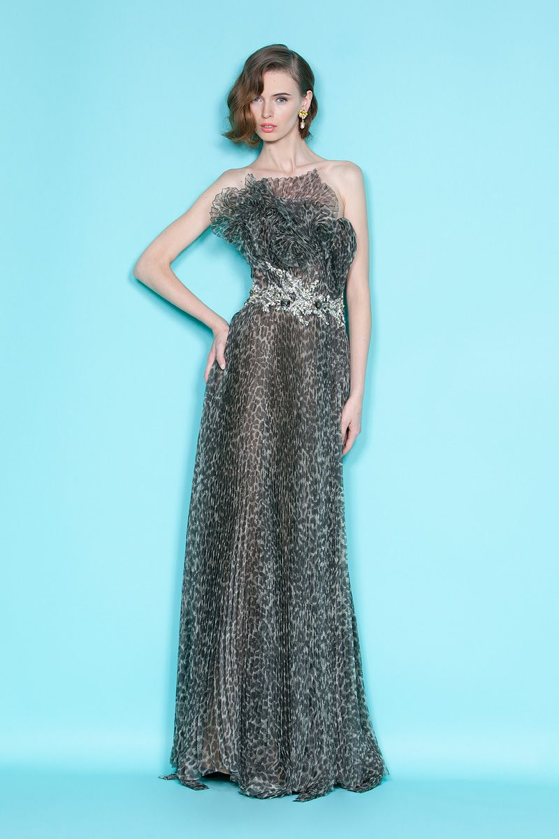 On-trend animal print Marchesa bridesmaid gown | OneWed | My Style ...