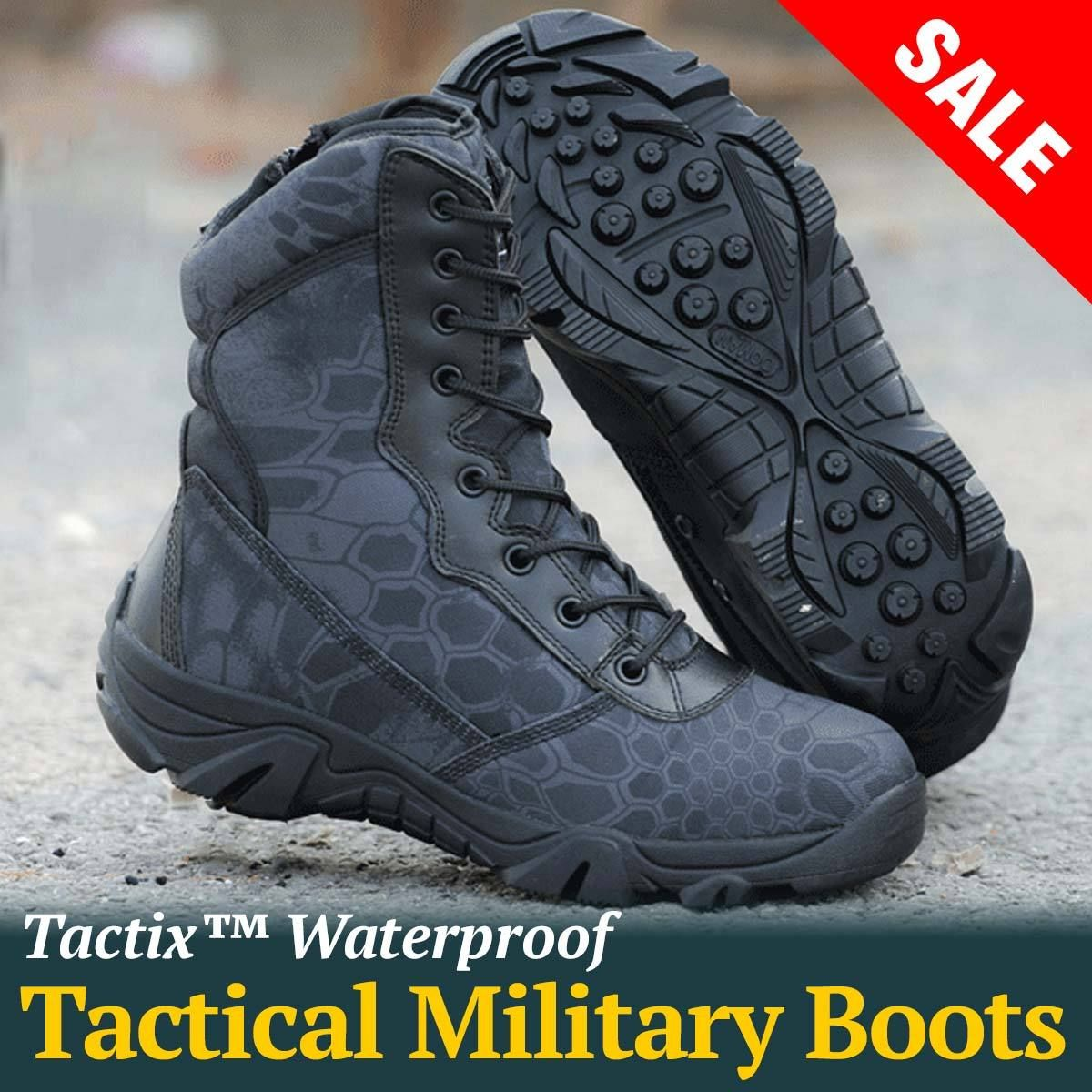 Camo Print Waterproof Tactical Boots