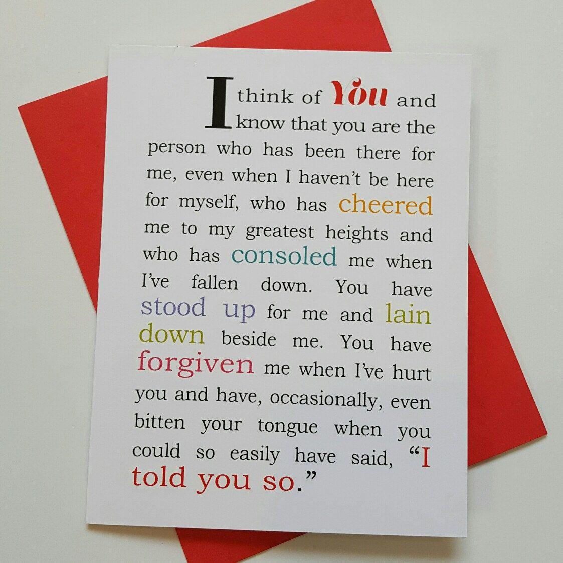this deeply meaningful love card is perfect for valentine