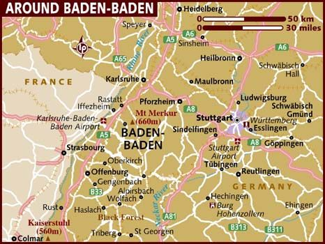 Of Germany Map Of BadenBaden Family History Pinterest - Germany map karlsruhe