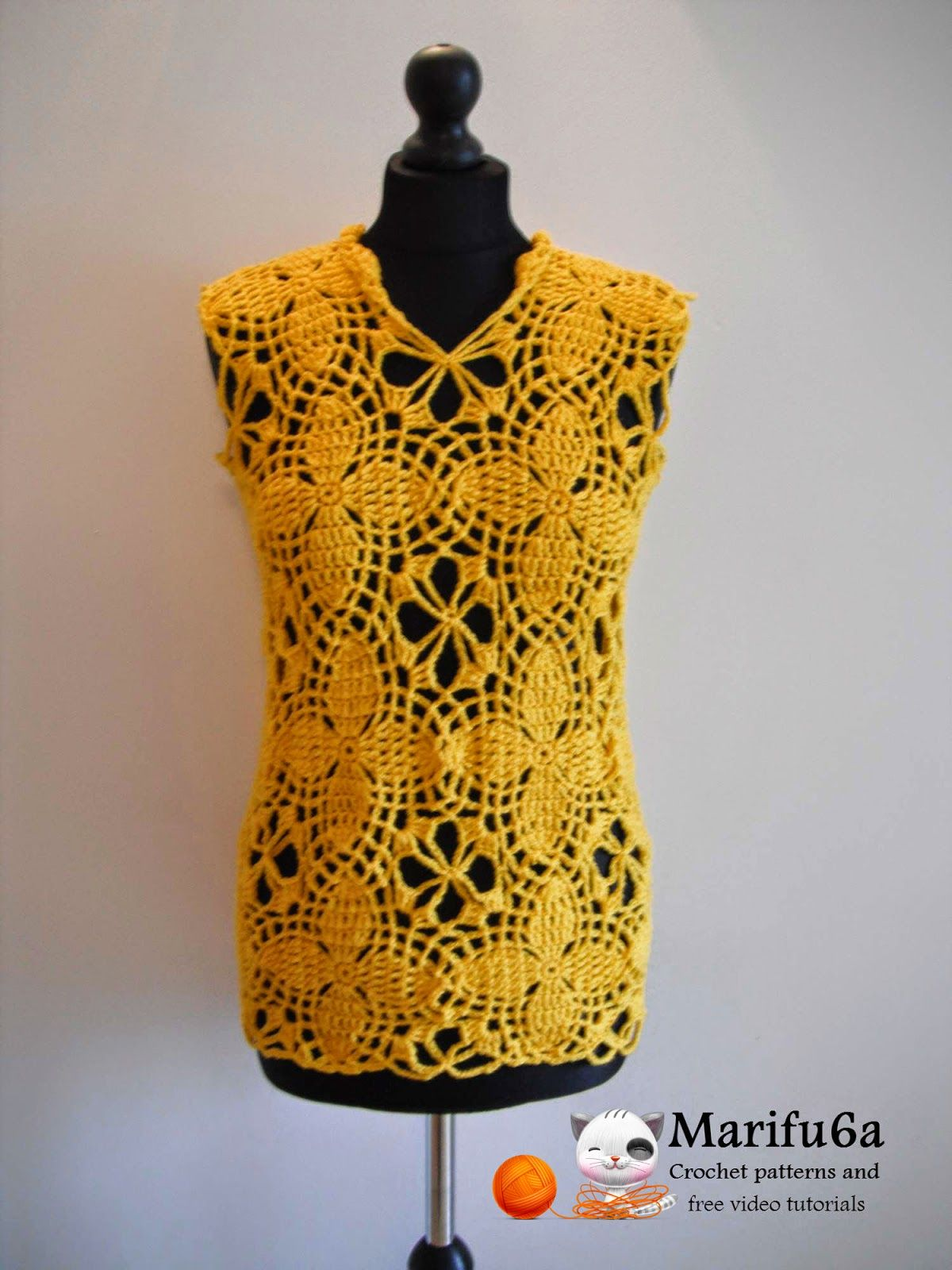 Free crochet patterns and video tutorials how to crochet yellow free crochet patterns and video tutorials how to crochet yellow motif tunic top sweater by bankloansurffo Gallery